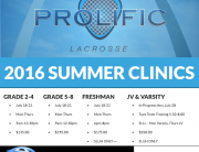 all prolific clinics summer 2016 (1)