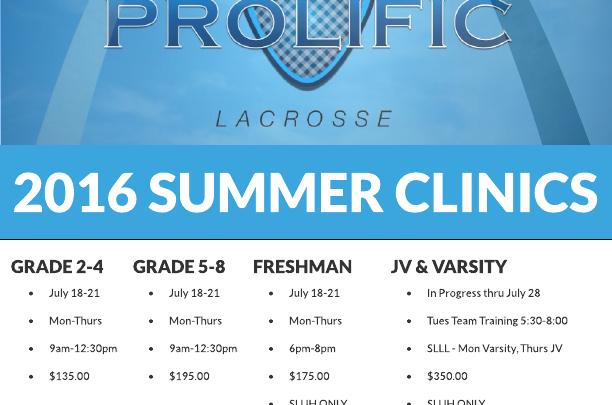 All Summer Clinics are still open for New Registrants